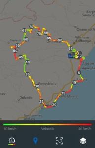 Percorso 112 km, dislivello 1990 mt
