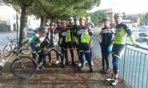 Lesa 16/11/2014 - Ragazzi strada e MTB insieme